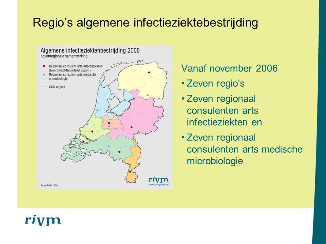 Regio's algemene infectieziektebestrijding