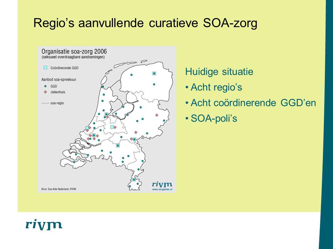 Regio's aanvullende curatieve SOA-zorg