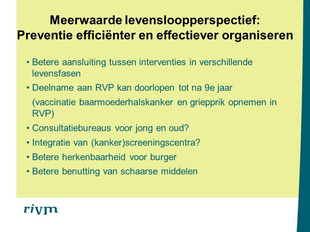 Meerwaarde levensloopperspectief: Preventie efficiënter en effectiever organiseren