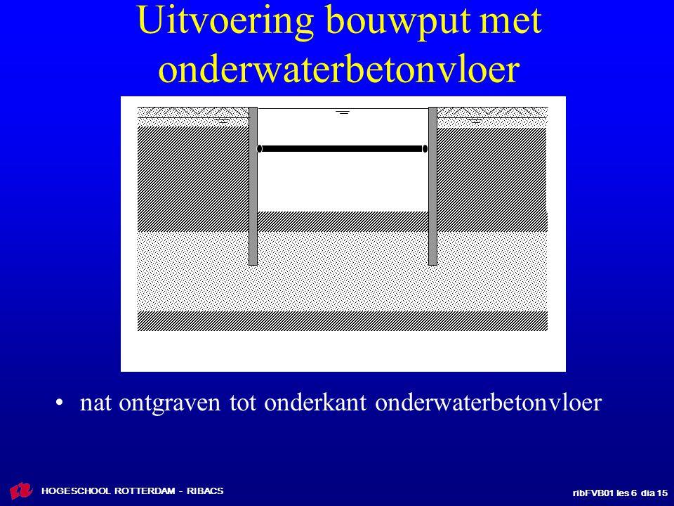 Uitvoering bouwput met onderwaterbetonvloer