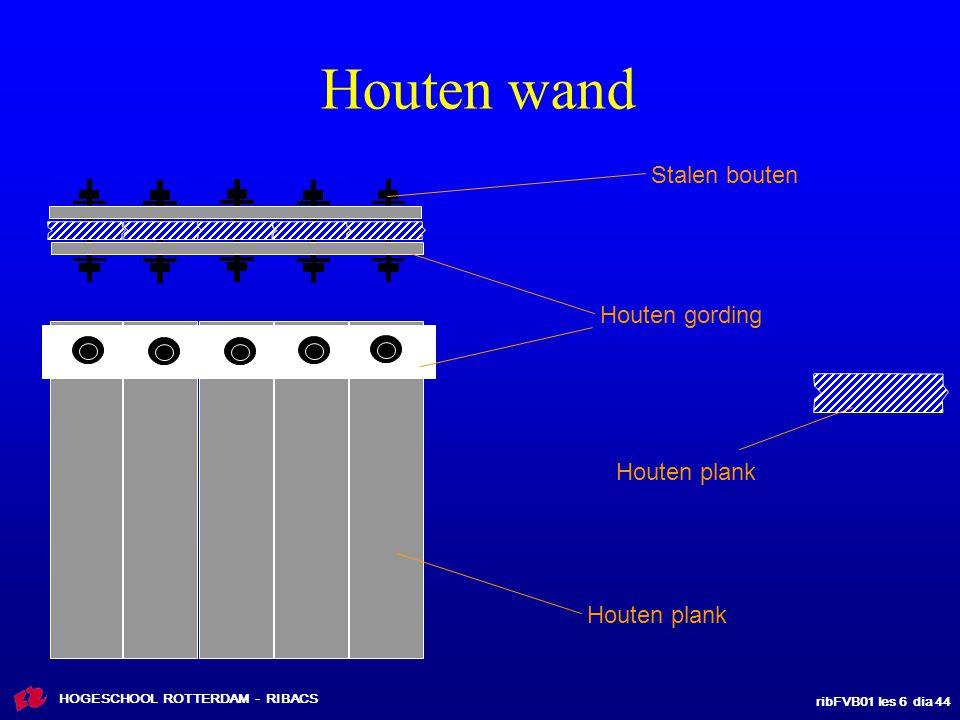 Houten wand Stalen bouten Houten gording Houten plank Houten plank