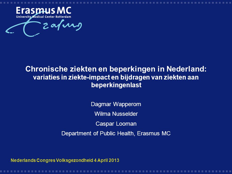 Department of Public Health, Erasmus MC