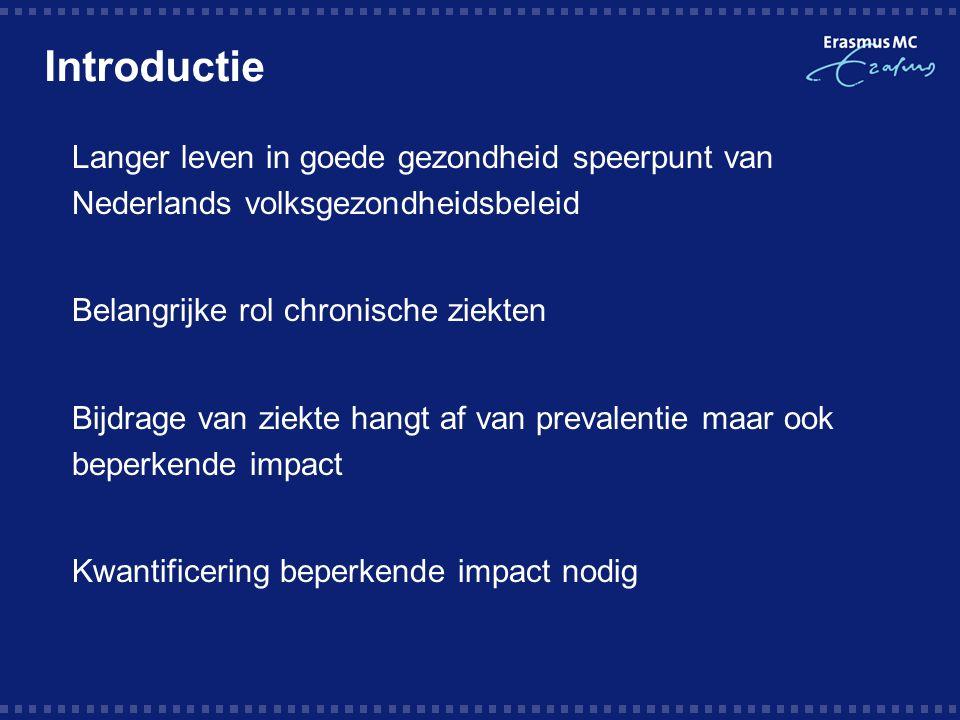 Introductie Langer leven in goede gezondheid speerpunt van Nederlands volksgezondheidsbeleid. Belangrijke rol chronische ziekten.
