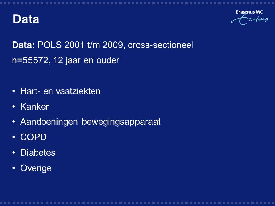 Data Data: POLS 2001 t/m 2009, cross-sectioneel