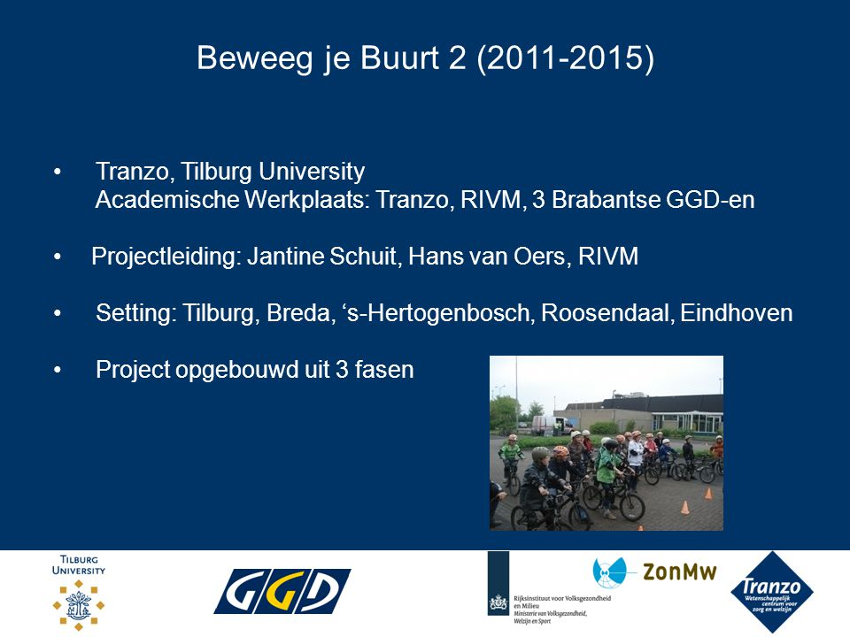 Beweeg je Buurt 2 (2011-2015) Tranzo, Tilburg University