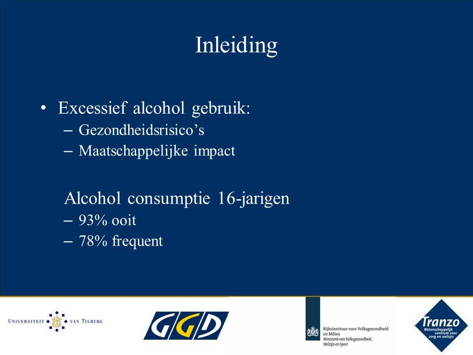 Inleiding Excessief alcohol gebruik: Alcohol consumptie 16-jarigen
