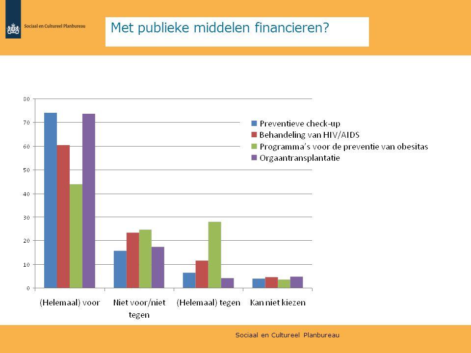 Met publieke middelen financieren
