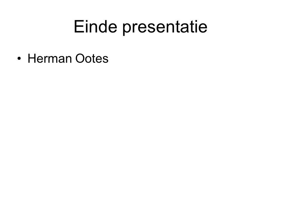 Einde presentatie Herman Ootes