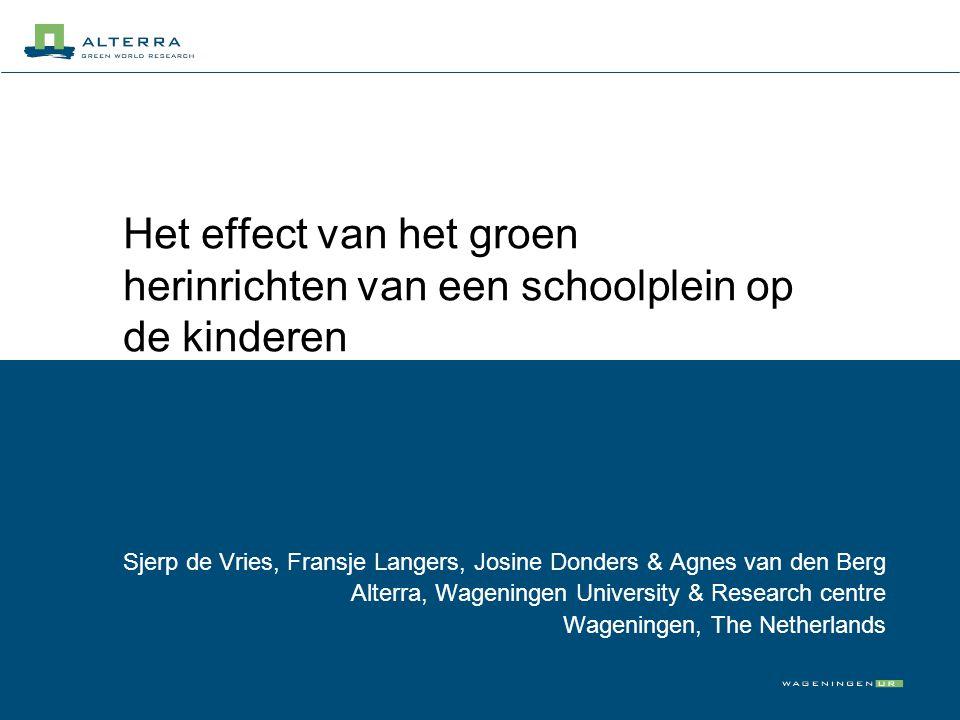 Het effect van het groen herinrichten van een schoolplein op de kinderen
