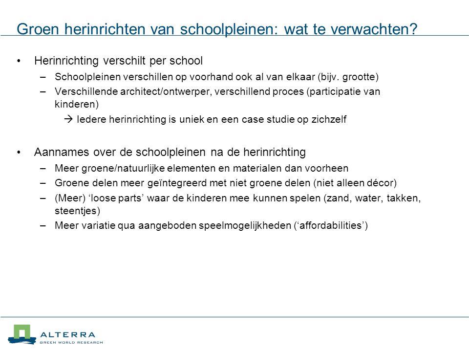 Groen herinrichten van schoolpleinen: wat te verwachten