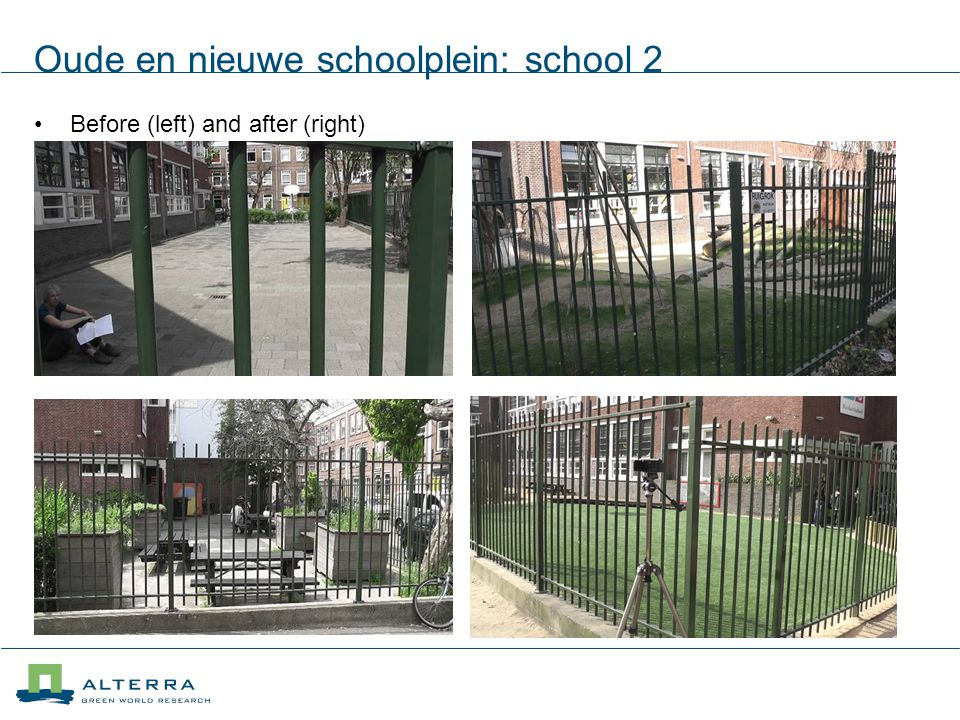 Oude en nieuwe schoolplein: school 2