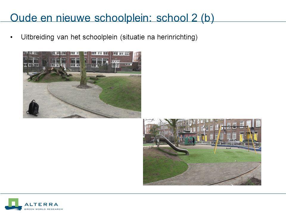 Oude en nieuwe schoolplein: school 2 (b)