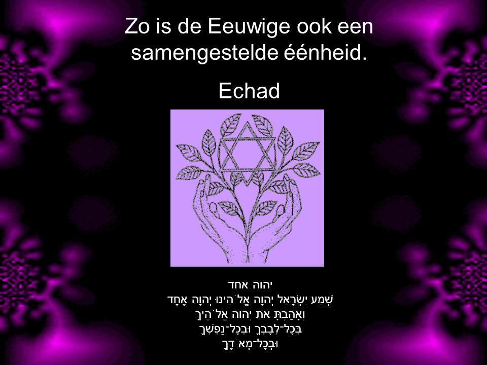 Zo is de Eeuwige ook een samengestelde éénheid.