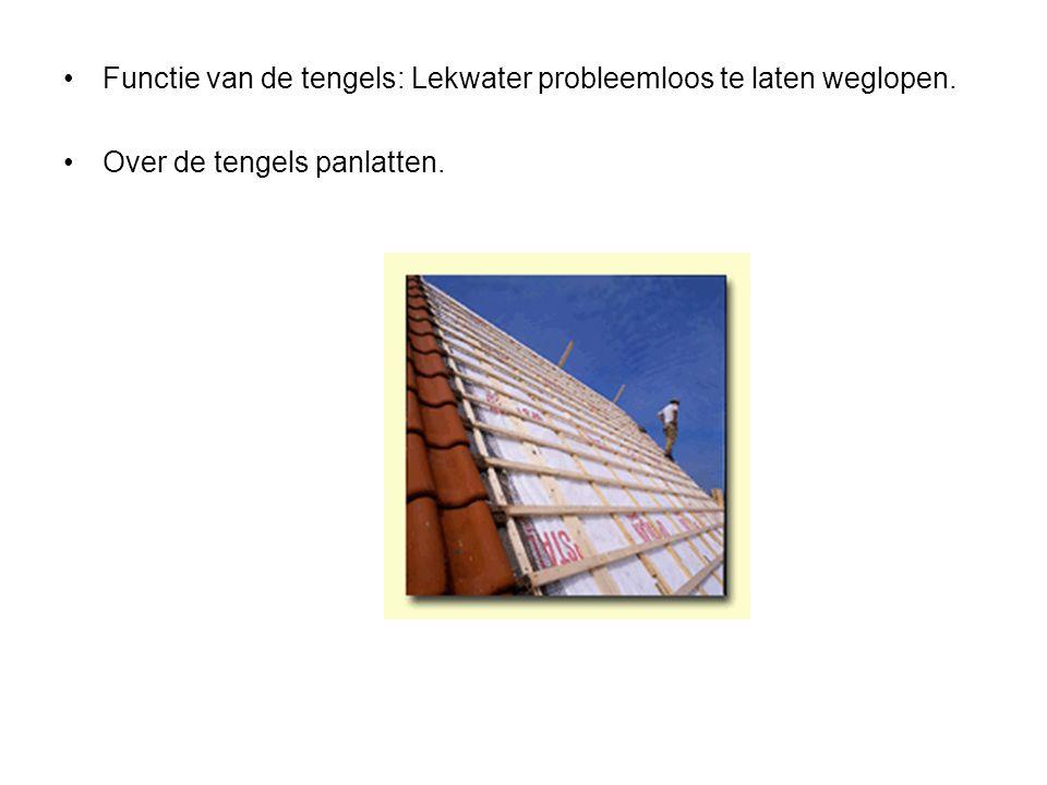 Functie van de tengels: Lekwater probleemloos te laten weglopen.