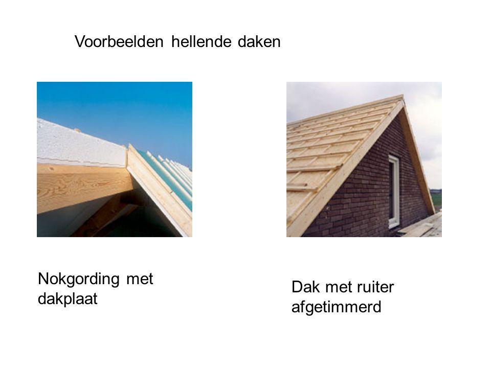 Voorbeelden hellende daken