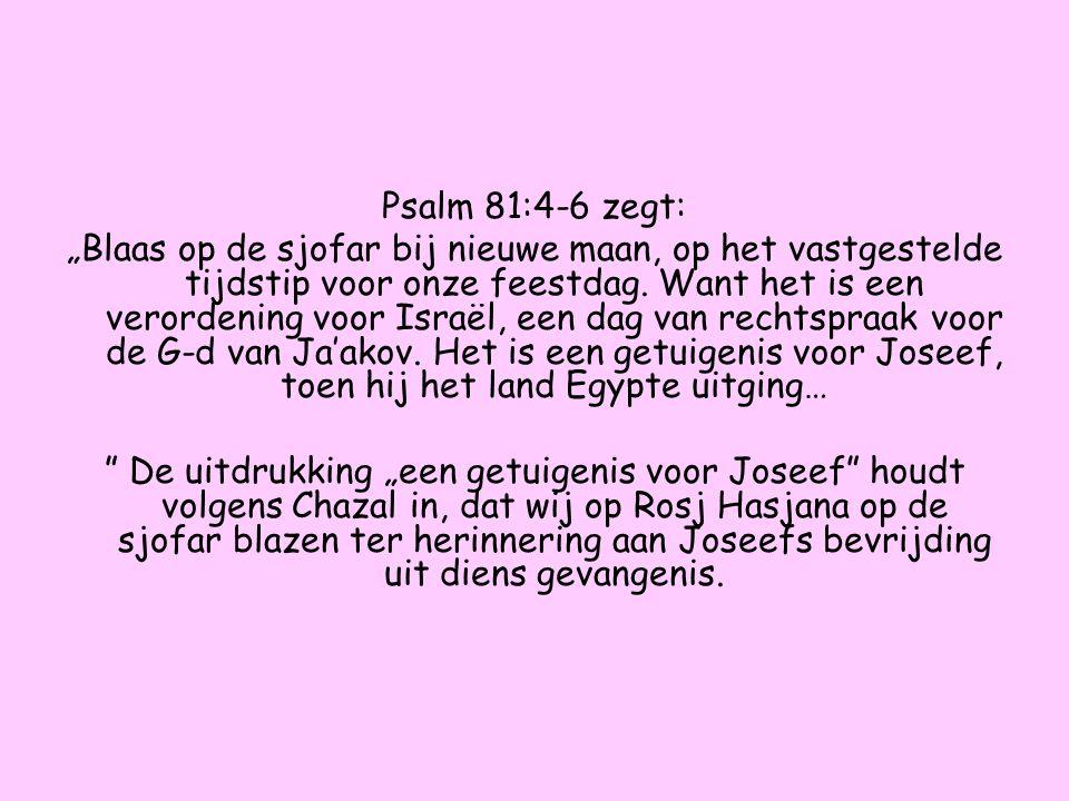 Psalm 81:4-6 zegt: