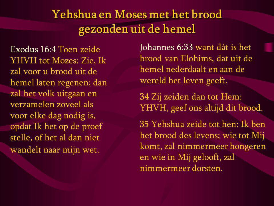 Yehshua en Moses met het brood