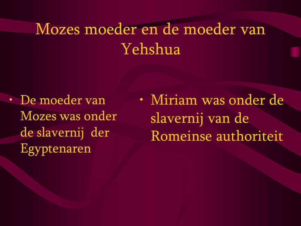Mozes moeder en de moeder van Yehshua
