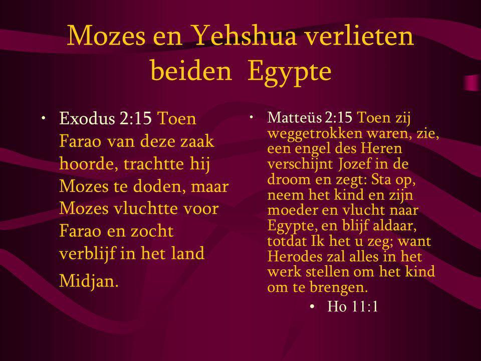 Mozes en Yehshua verlieten beiden Egypte