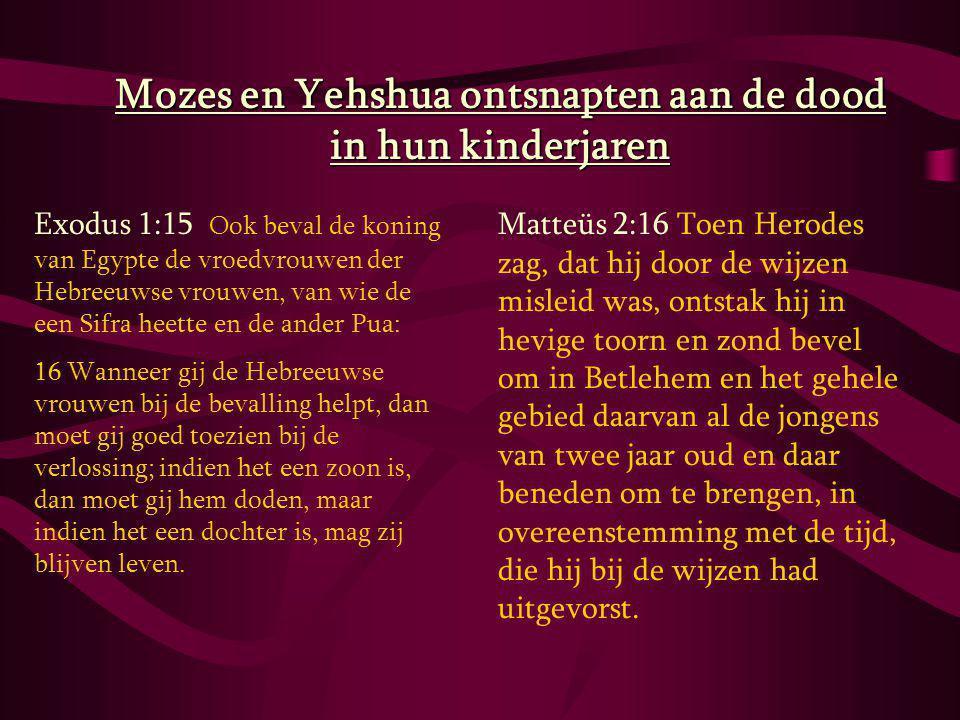 Mozes en Yehshua ontsnapten aan de dood in hun kinderjaren