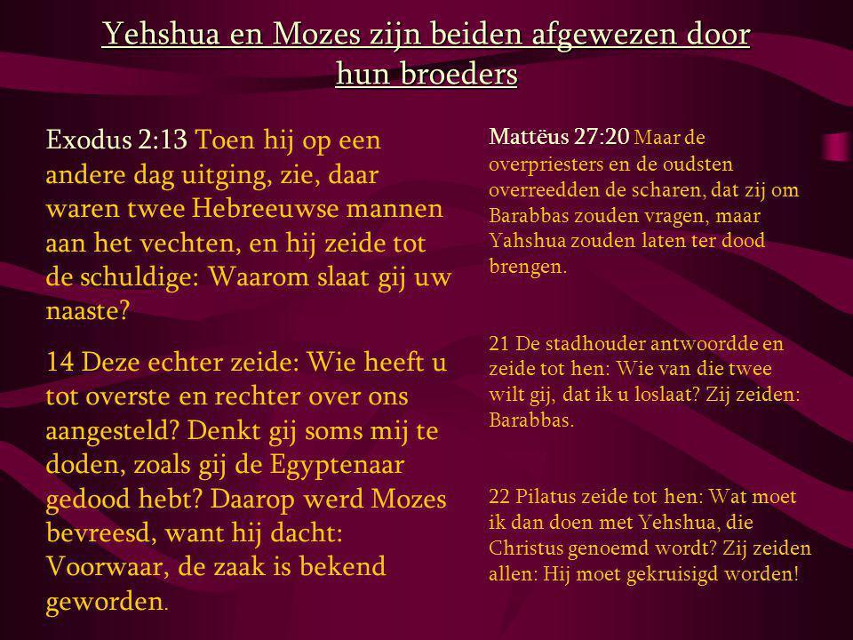 Yehshua en Mozes zijn beiden afgewezen door hun broeders