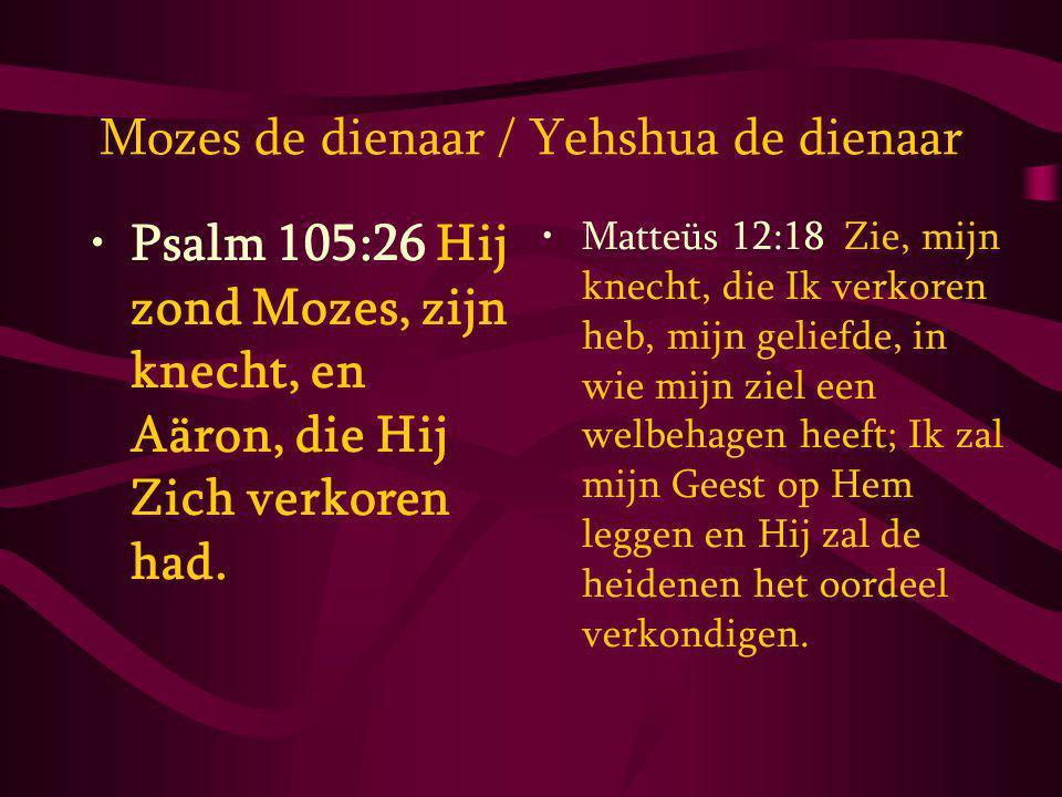 Mozes de dienaar / Yehshua de dienaar
