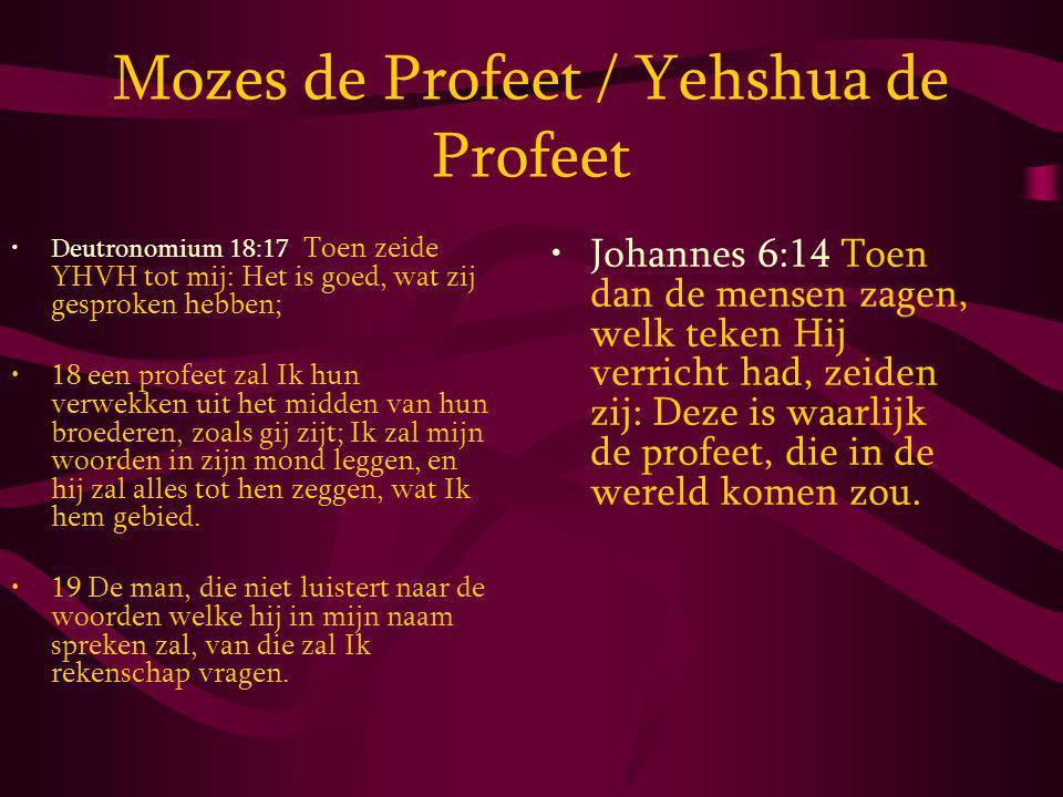 Mozes de Profeet / Yehshua de Profeet