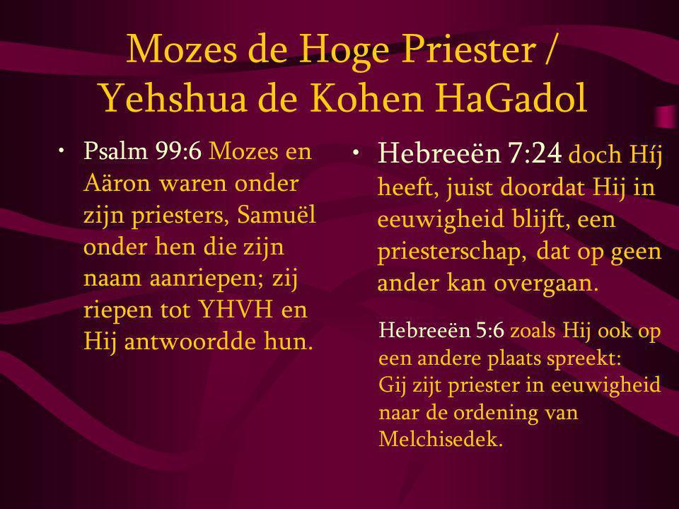 Mozes de Hoge Priester / Yehshua de Kohen HaGadol