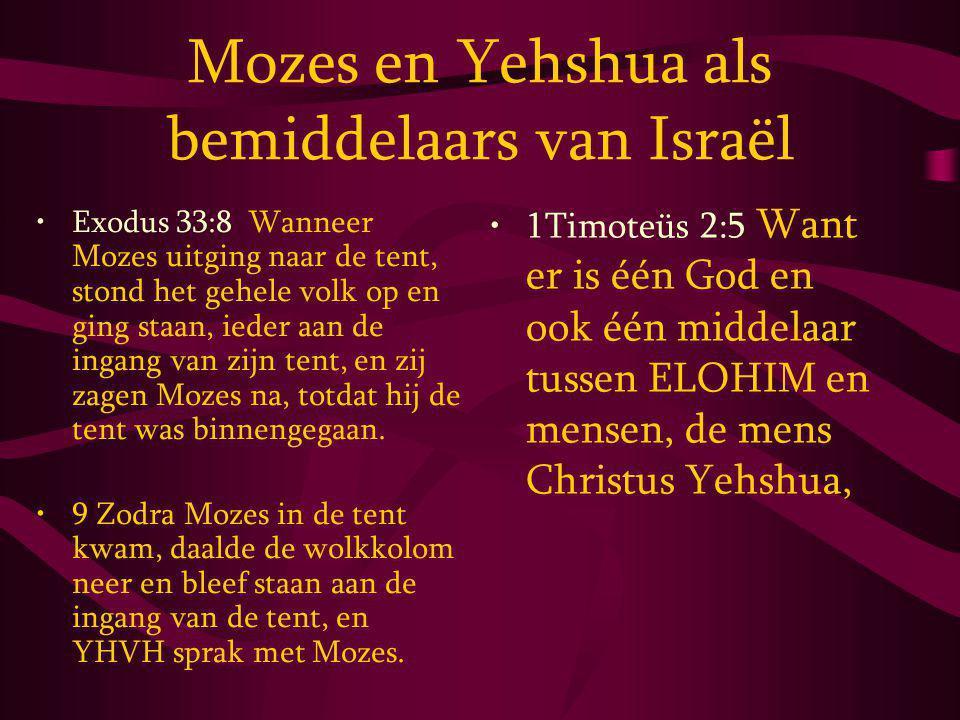 Mozes en Yehshua als bemiddelaars van Israël