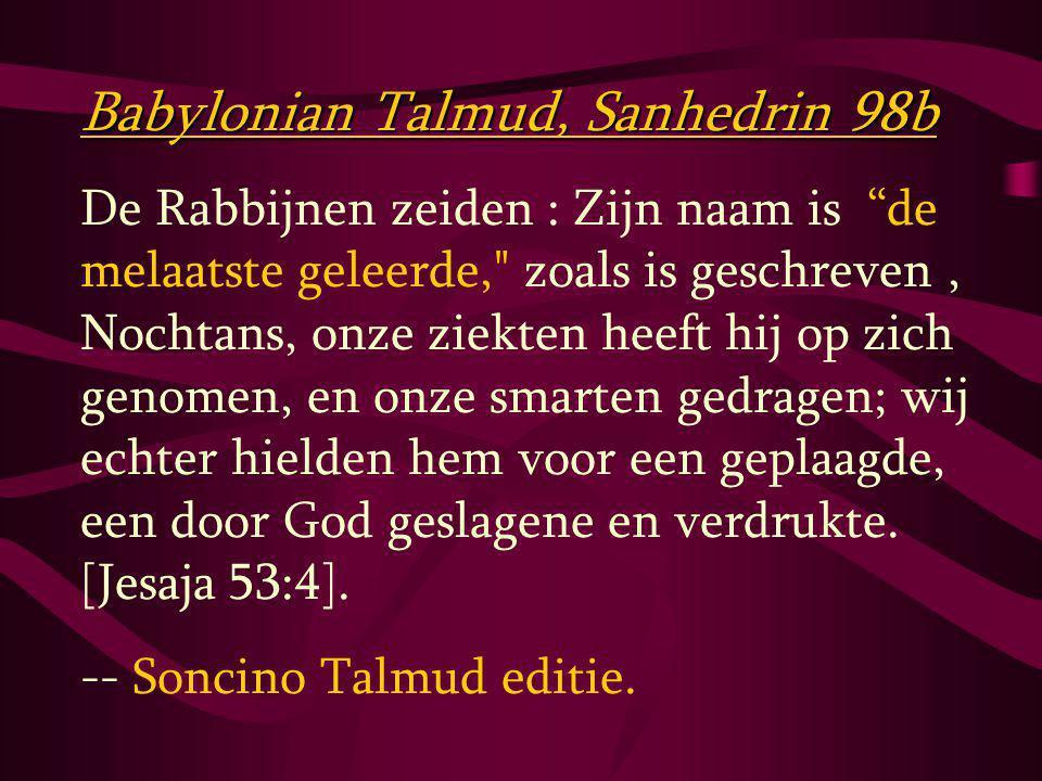 Babylonian Talmud, Sanhedrin 98b