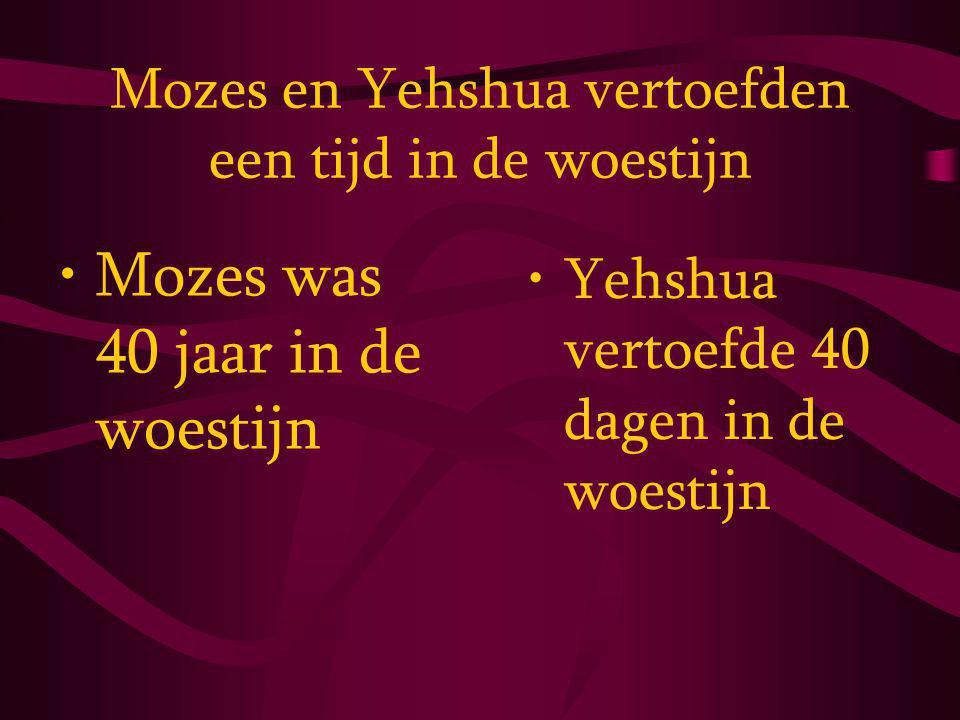 Mozes en Yehshua vertoefden een tijd in de woestijn