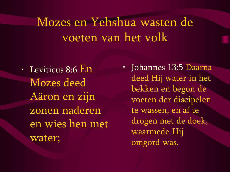 Mozes en Yehshua wasten de voeten van het volk