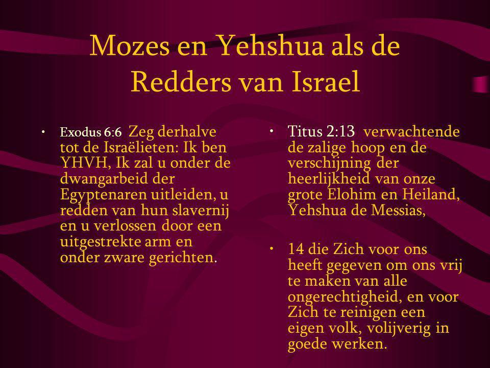 Mozes en Yehshua als de Redders van Israel