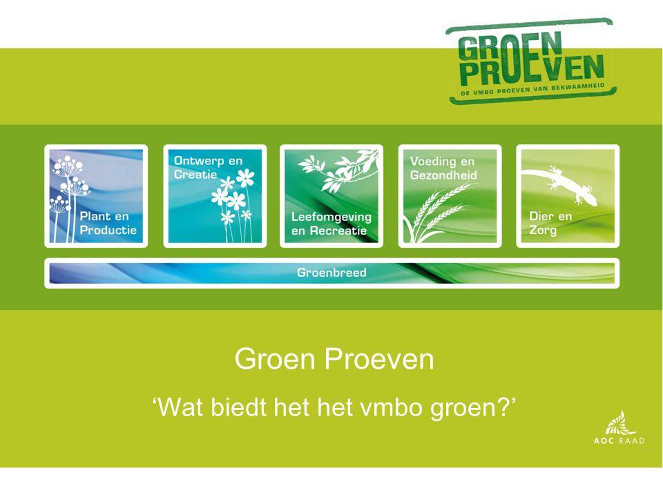 'Wat biedt het het vmbo groen '