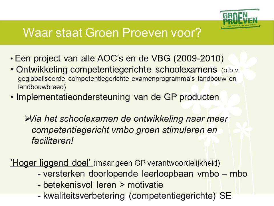 Waar staat Groen Proeven voor