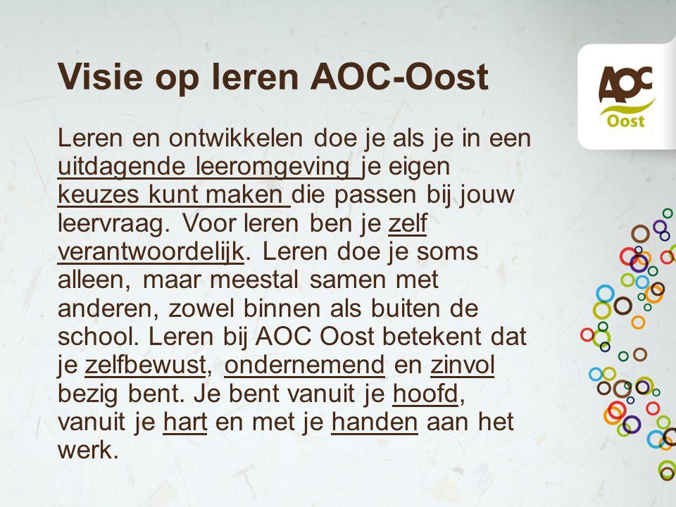 Visie op leren AOC-Oost