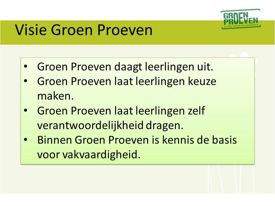 Visie Groen Proeven Groen Proeven daagt leerlingen uit.