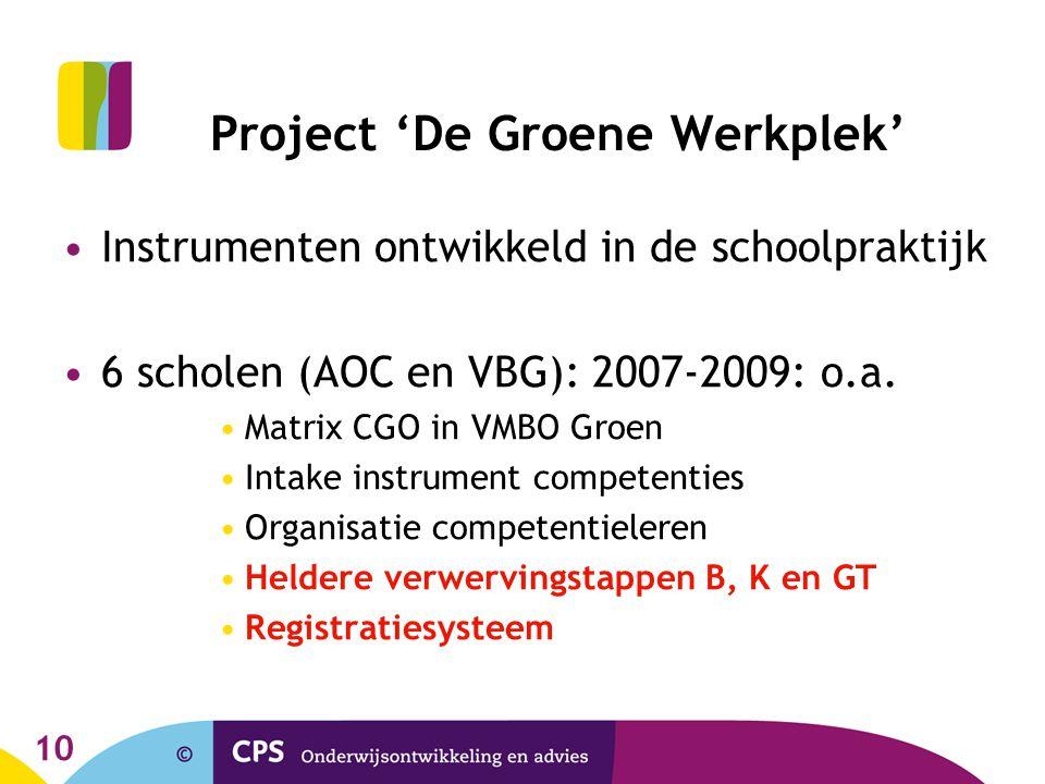 Project 'De Groene Werkplek'