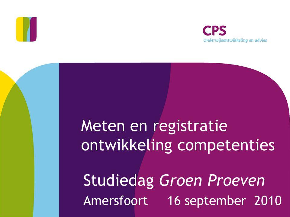 Meten en registratie ontwikkeling competenties
