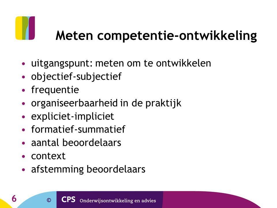 Meten competentie-ontwikkeling