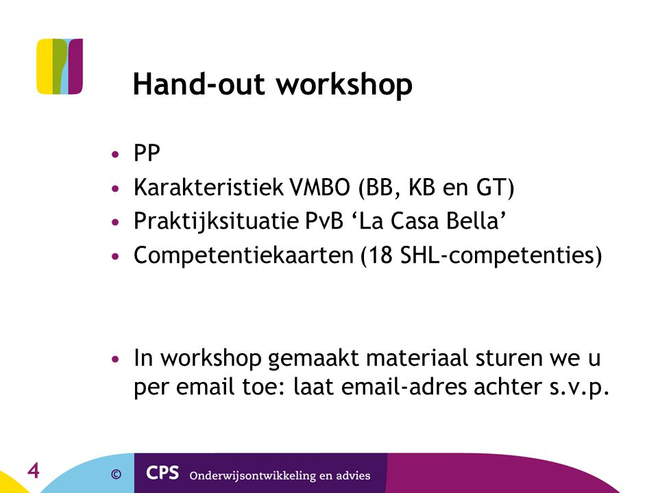 Hand-out workshop PP Karakteristiek VMBO (BB, KB en GT)