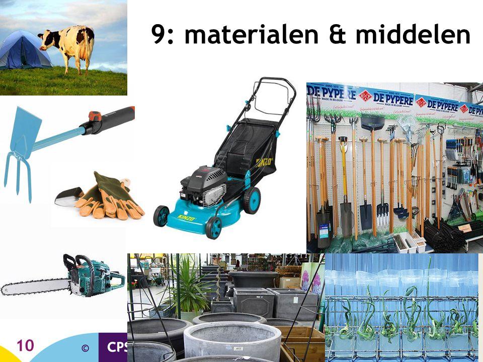 9: materialen & middelen