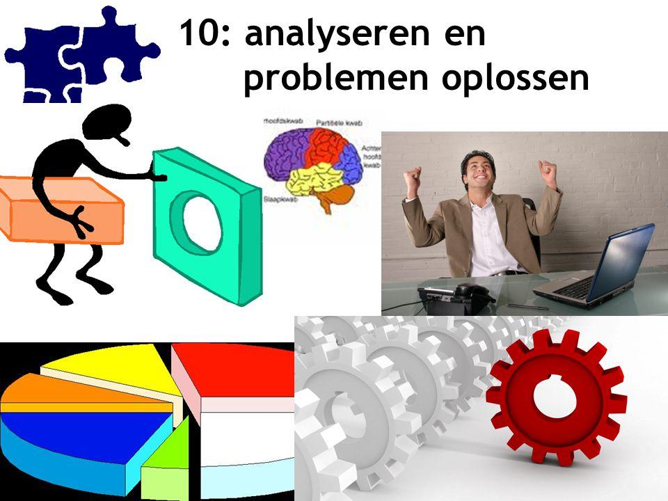 10: analyseren en problemen oplossen