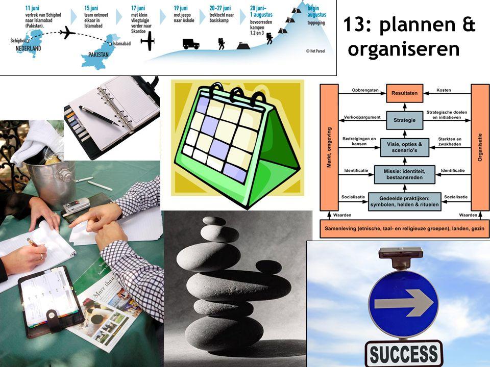 13: plannen & organiseren