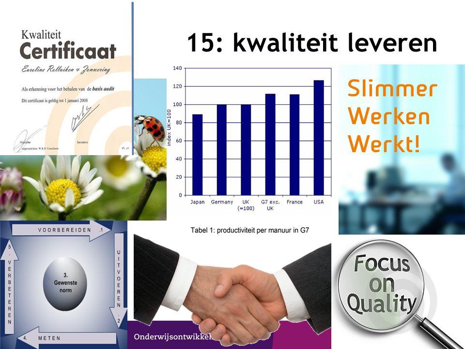 15: kwaliteit leveren © CPS Onderwijsontwikkeling en advies