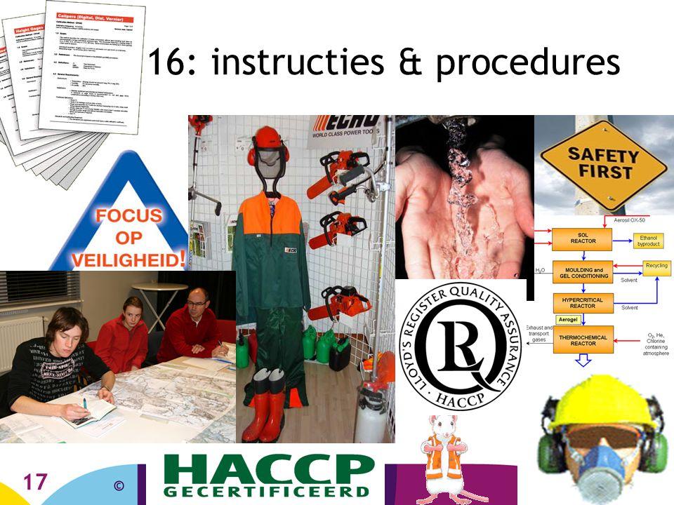 16: instructies & procedures