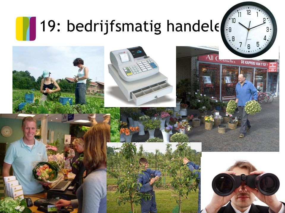 19: bedrijfsmatig handelen