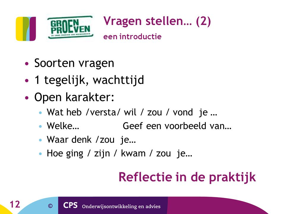Groen proeven workshop 31 maart 2011 reflectie binnen de pvb ppt video online download - Workshop zou ...