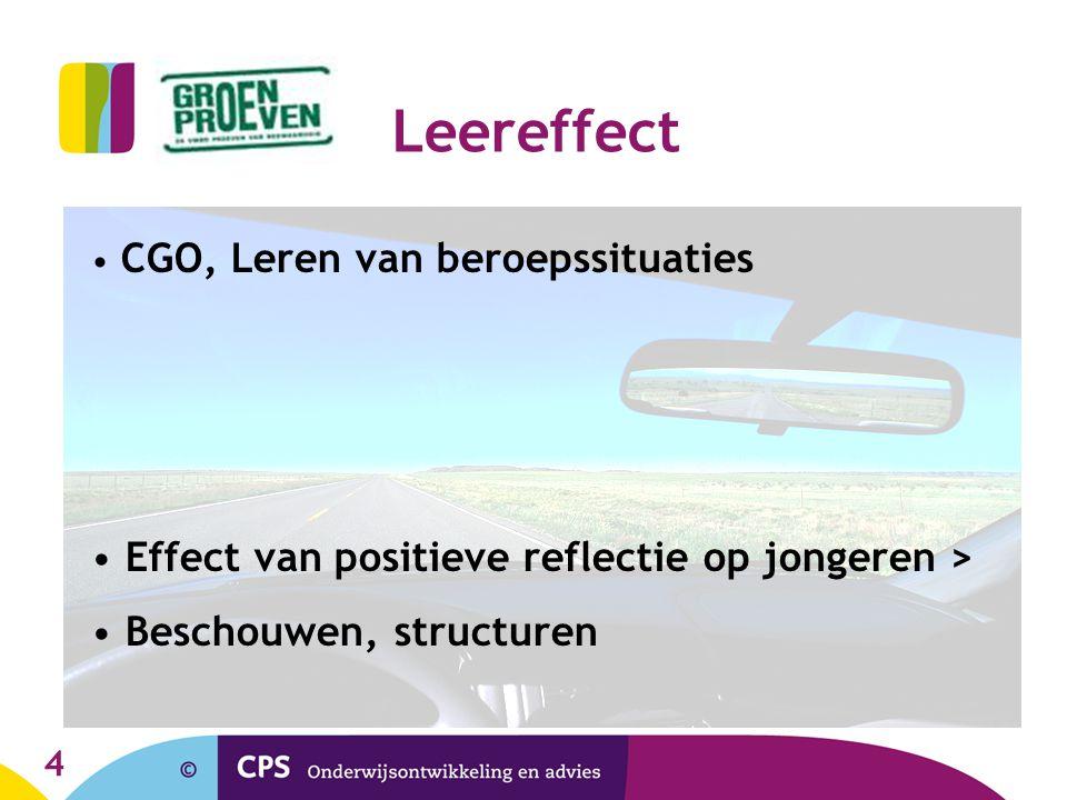 Leereffect Effect van positieve reflectie op jongeren >