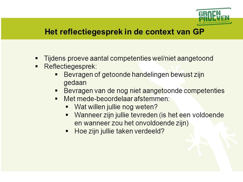 Het reflectiegesprek in de context van GP